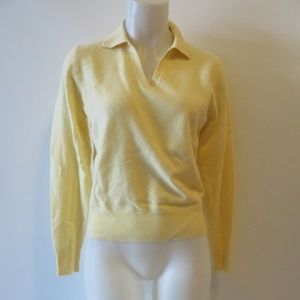 LORD & TAYLOR V-NECK COLLAR CASHMERE SWEATER M